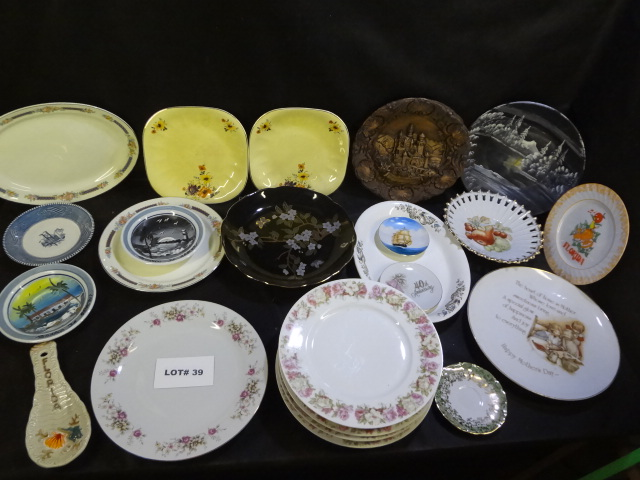 Lot of 24 plates, platters, saucers, etc.