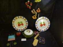 Strawberry themed items and windchimes