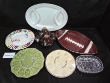 Party time serving dishes, be ready for the holidays and Super Bowl!