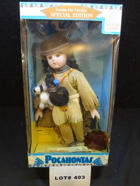 400th Anniversary of Pochahontas porcelain doll, 12