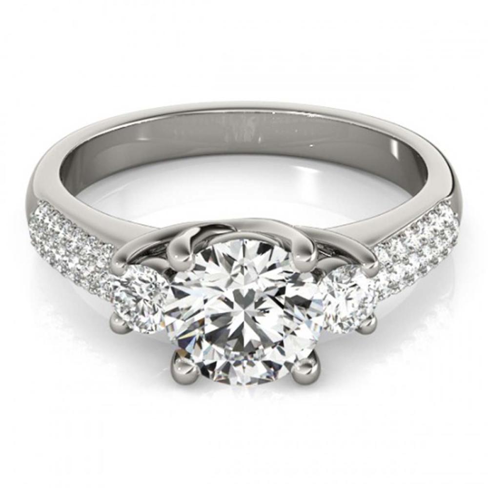 1.25 ctw VS/SI Diamond 3 Stone ring 18K White Gold - REF-168A8V - SKU:28020