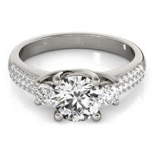 Lot 5009: 1.25 ctw VS/SI Diamond 3 Stone ring 18K White Gold - REF-168A8V - SKU:28020