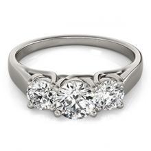 Lot 5005: 1 ctw VS/SI Diamond 3 Stone Ring 18K White Gold - REF-115K3W - SKU:28050