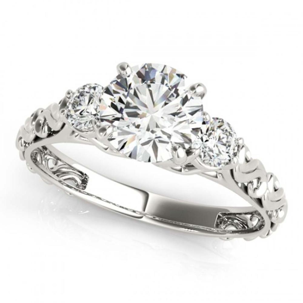 1.25 ctw VS/SI Diamond 3 Stone Ring 18K White Gold - REF-270N7A - SKU:28044