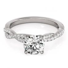 Lot 5032: 1.06 ctw VS/SI Diamond Bypass Ring 18K White Gold - REF-152N7A - SKU:27750
