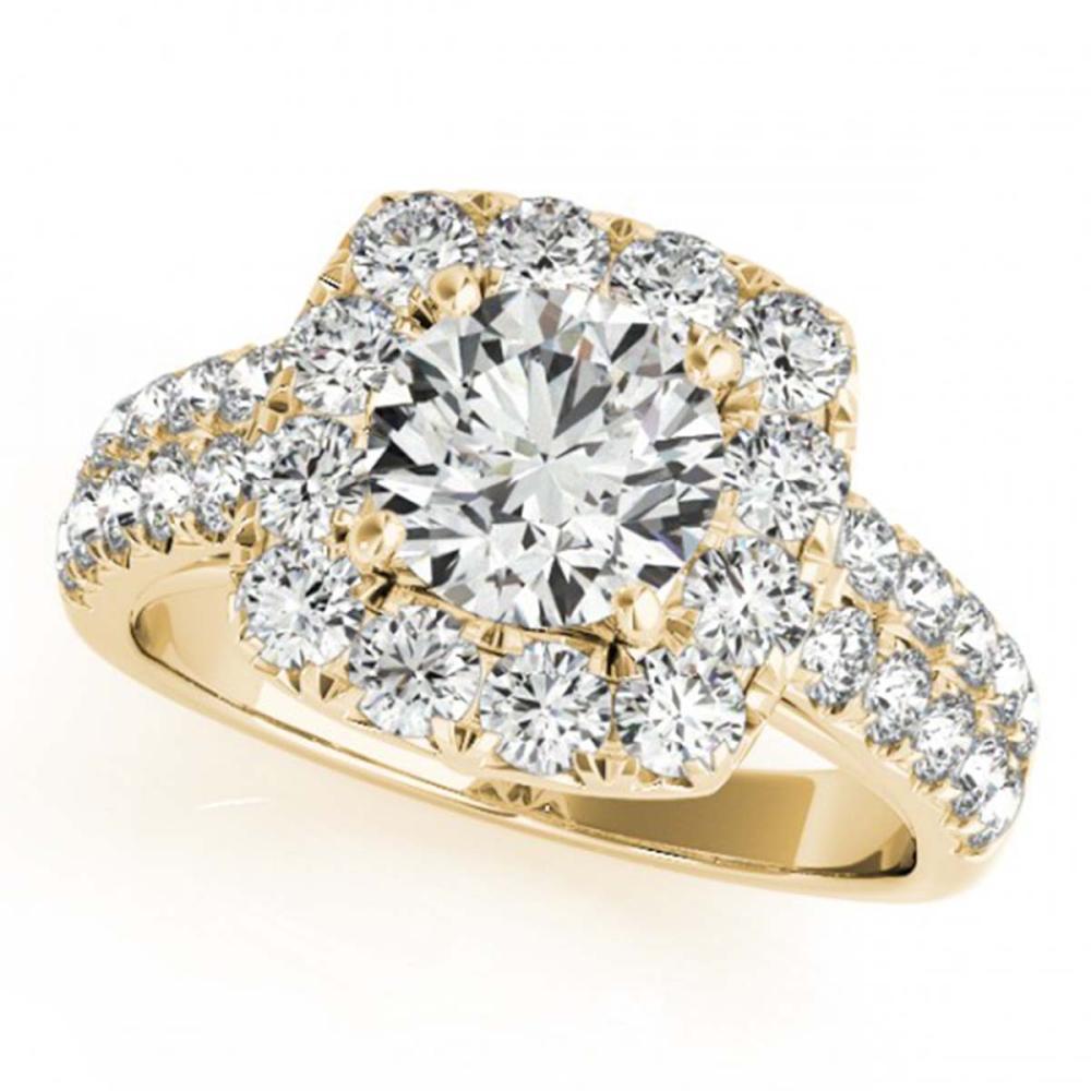 2 ctw VS/SI Diamond Halo Ring 18K Yellow Gold - REF-213F2N - SKU:26442