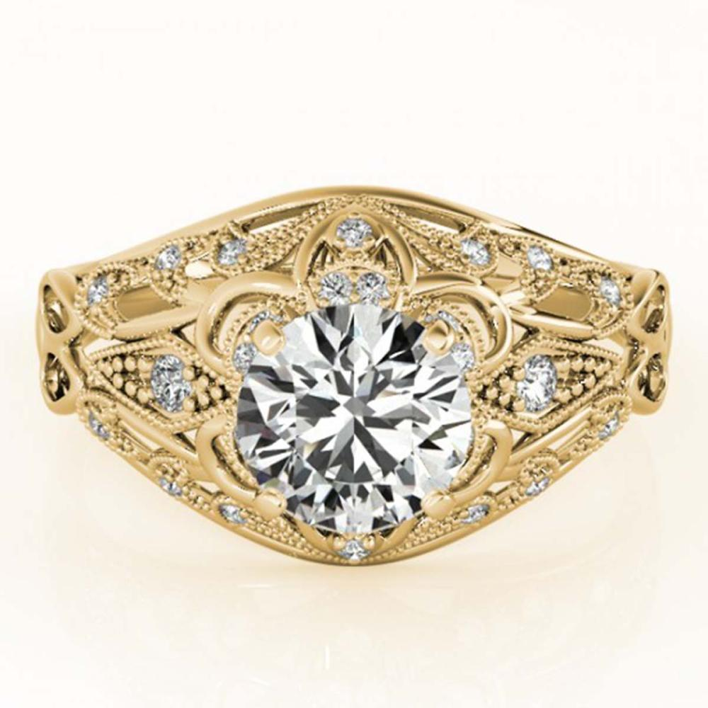 1.12 ctw VS/SI Diamond Ring 18K Yellow Gold - REF-164V6Y - SKU:27338