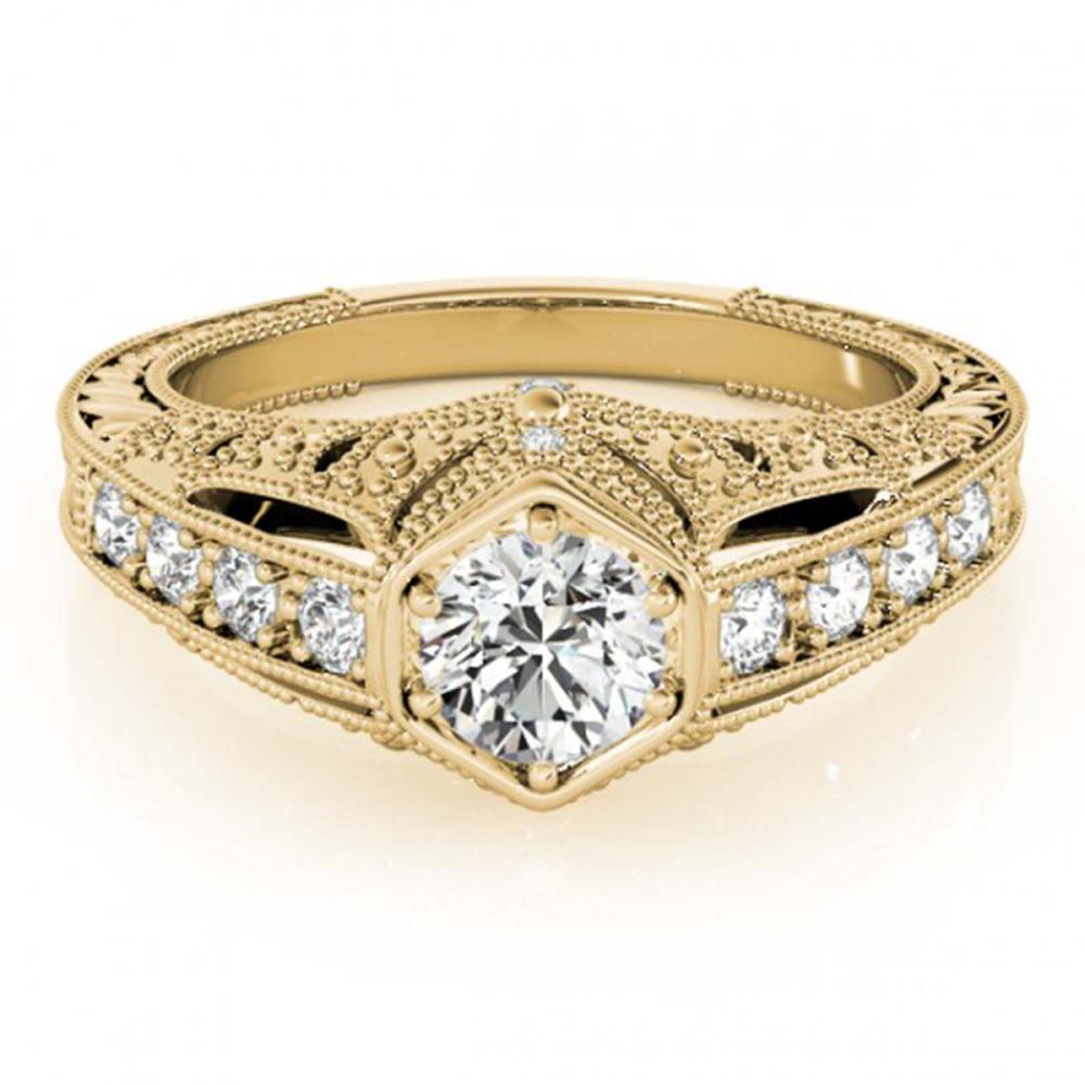 0.65 ctw VS/SI Diamond Ring 18K Yellow Gold - REF-103F2N - SKU:27302