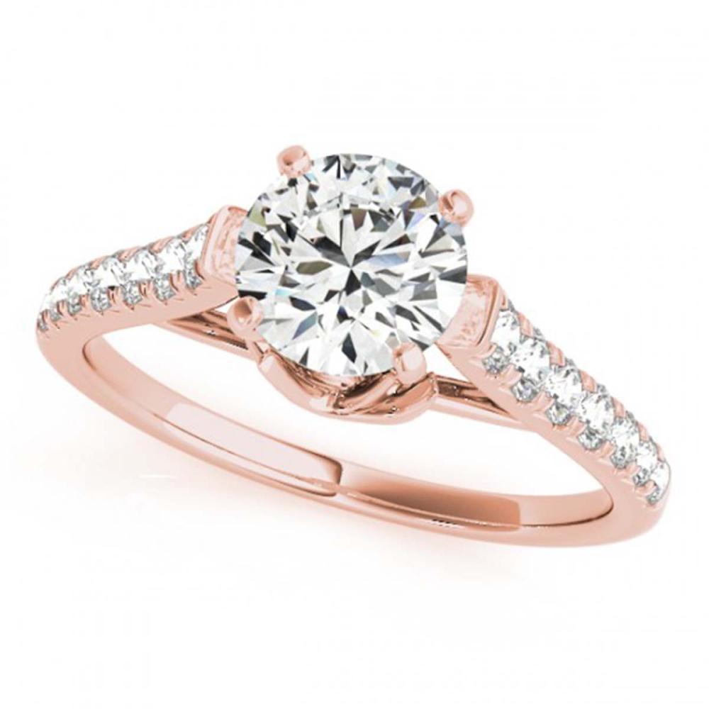 1.46 ctw VS/SI Diamond Ring 18K Rose Gold - REF-280F3N - SKU:27574