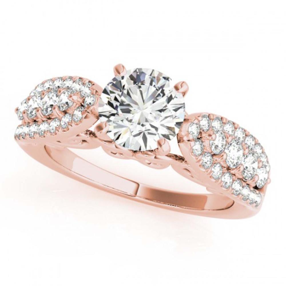 1.70 ctw VS/SI Diamond Ring 18K Rose Gold - REF-327Y3X - SKU:27874
