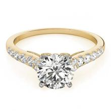 Lot 5100: 0.75 ctw VS/SI Diamond Ring 18K Yellow Gold - REF-62R7K - SKU:27494