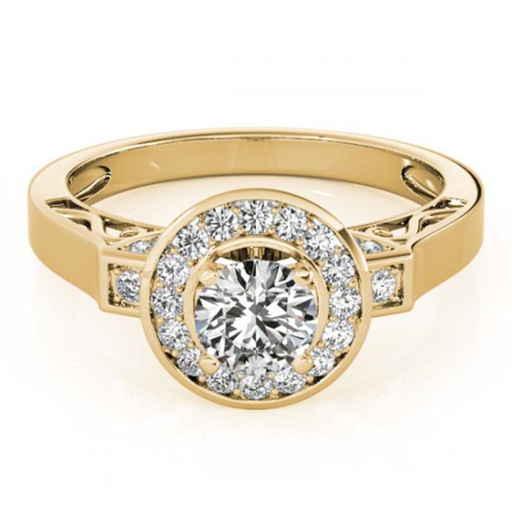 1.75 ctw VS/SI Diamond Halo Ring 18K Yellow Gold - REF-388V2Y - SKU:27089
