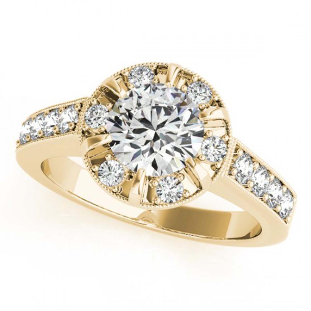 Lot 5123: 2 ctw VS/SI Diamond Halo Ring 18K Yellow Gold - REF-404W2H - SKU:27041