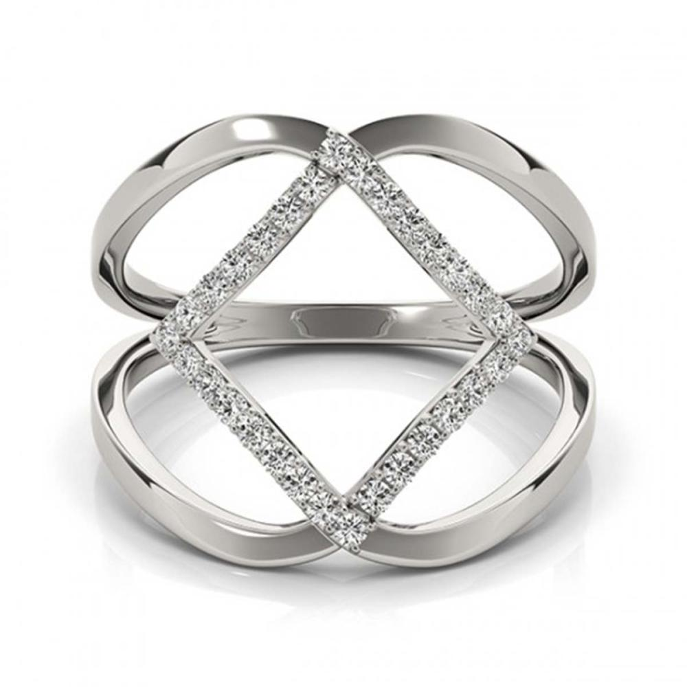 0.25 ctw VS/SI Diamond Fashion Ring 18K White Gold - REF-47R4K - SKU:28263