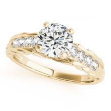Lot 5134: 0.95 ctw VS/SI Diamond Ring 18K Yellow Gold - REF-145W6H - SKU:27536