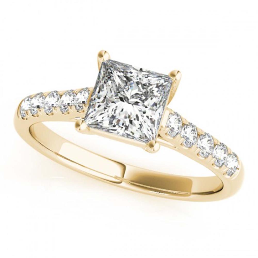 1.30 ctw VS/SI Princess Diamond Ring 18K Yellow Gold - REF-278H6M - SKU:28118