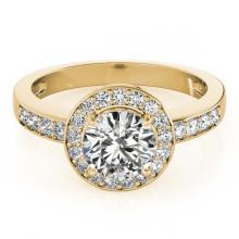 Lot 5148: 1.20 ctw VS/SI Diamond Halo Ring 18K Yellow Gold - REF-160K9W - SKU:26969