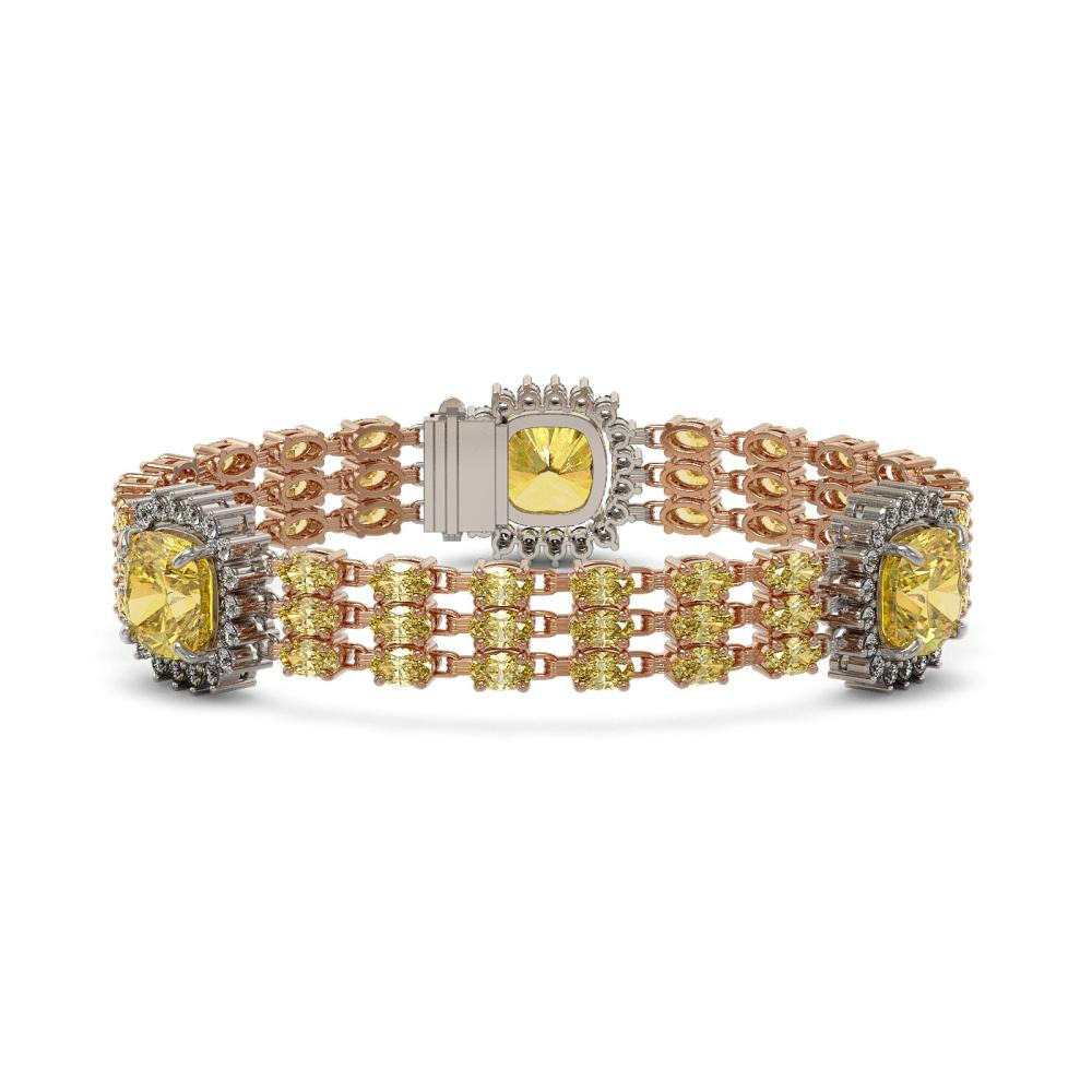 35.24 ctw Citrine & Diamond Bracelet 14K Rose Gold - REF-363A6V - SKU:45351