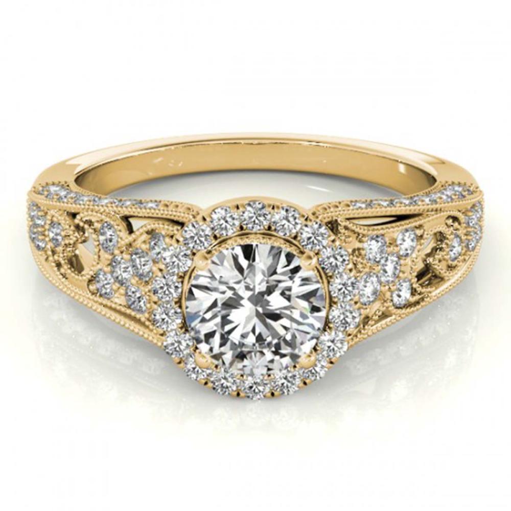 1.25 ctw VS/SI Diamond Halo Ring 18K Yellow Gold - REF-178H5M - SKU:26574