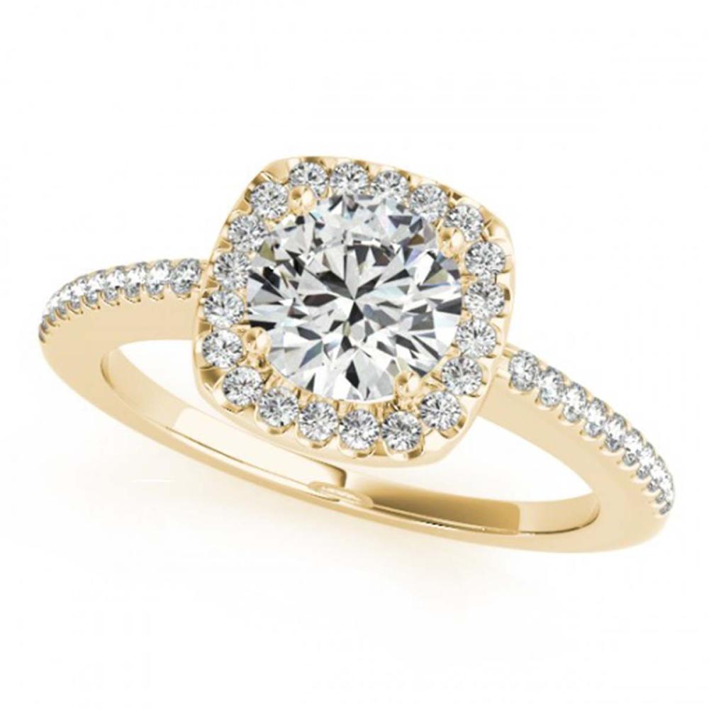 0.75 ctw VS/SI Diamond Halo Ring 18K Yellow Gold - REF-93K5W - SKU:26598