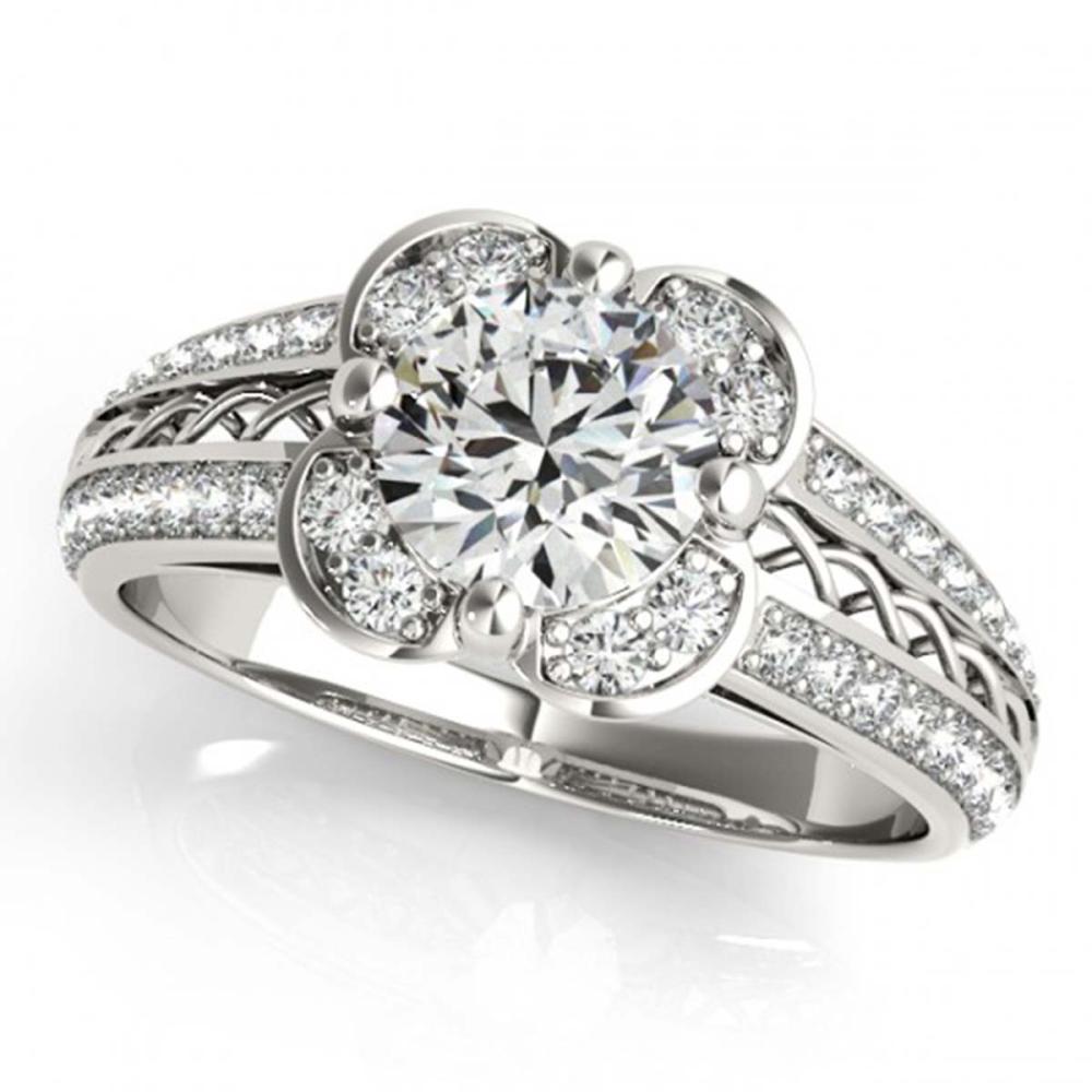 2.05 ctw VS/SI Diamond Halo Ring 18K White Gold - REF-538W2H - SKU:26913