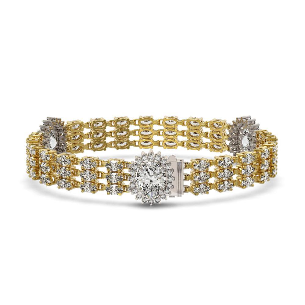 23.74 ctw Oval Diamond Bracelet 18K Yellow Gold - REF-5304Y7X - SKU:46223
