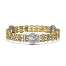 Lot 5176: 23.74 ctw Oval Diamond Bracelet 18K Yellow Gold - REF-5304Y7X - SKU:46223