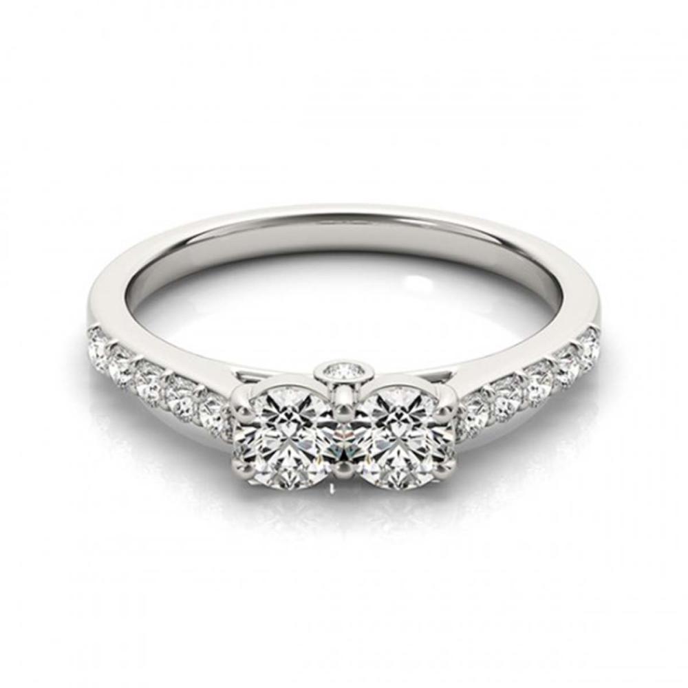 1.50 ctw VS/SI Diamond 2 Stone 2 Stone Ring 18K White Gold - REF-161H7M - SKU:28218