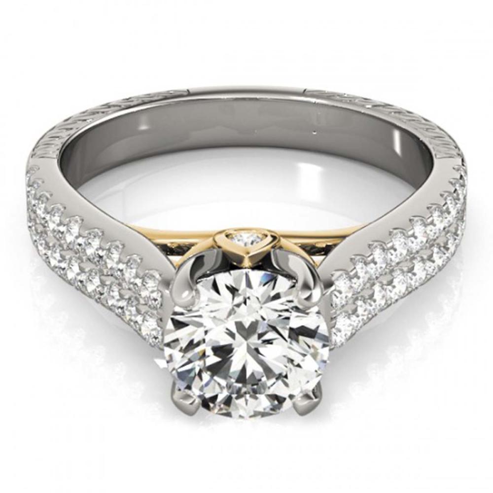 2.11 ctw VS/SI Diamond Ring 18K White & Yellow Gold - REF-572A7V - SKU:28106