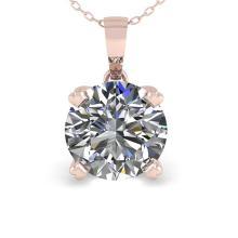 Lot 5013: 2 ctw VS/SI Diamond Necklace 18K Rose Gold - REF-930A8V - SKU:32363