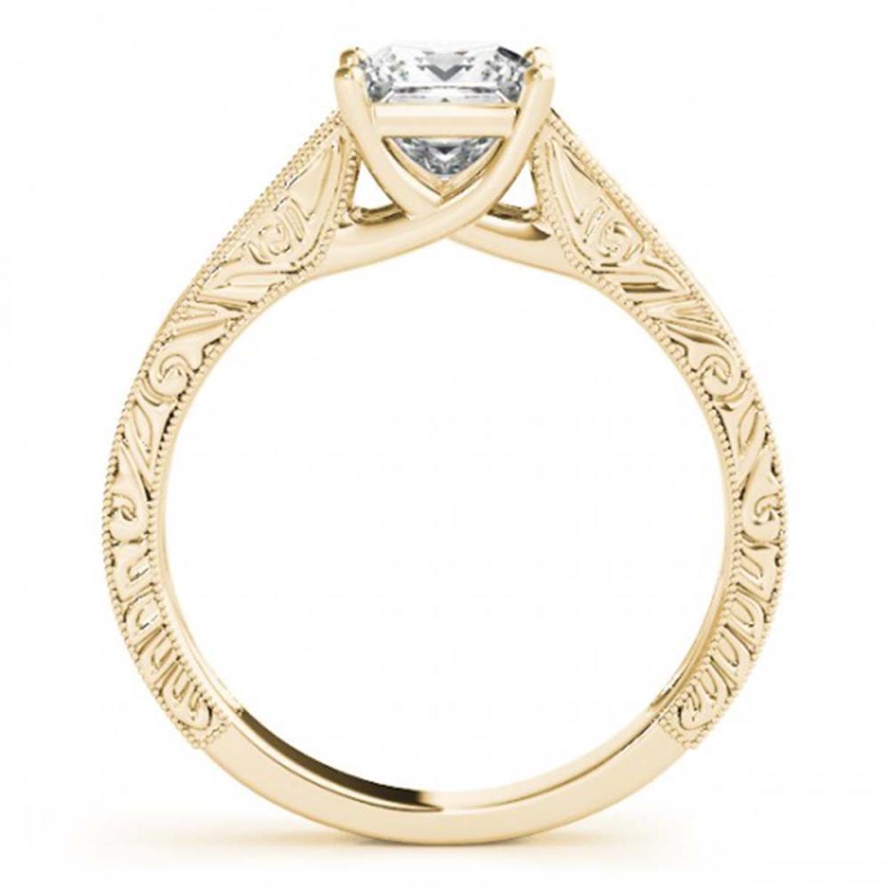 Lot 5027: 0.75 ctw VS/SI Princess Diamond Ring 18K Yellow Gold - REF-135X2R - SKU:28124