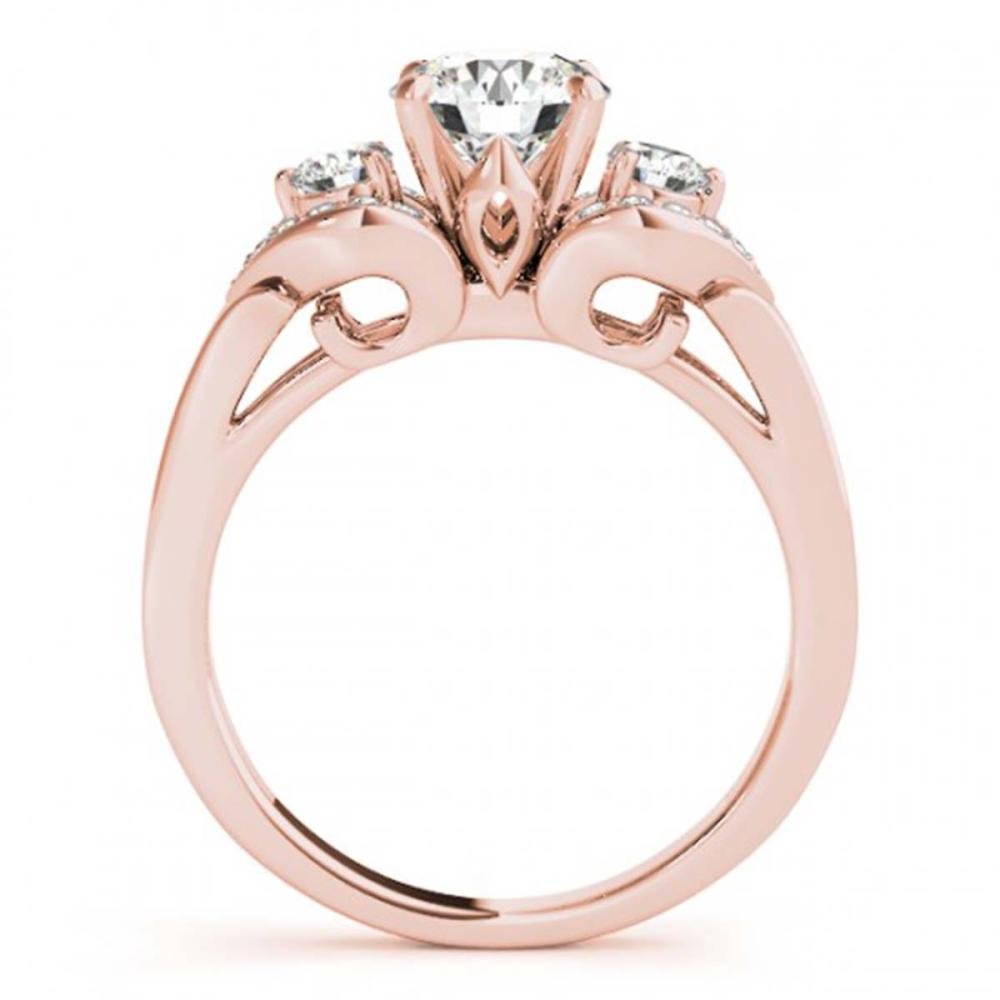 Lot 5040: 1.20 ctw VS/SI Diamond 3 Stone Ring 18K Rose Gold - REF-174V5Y - SKU:27982