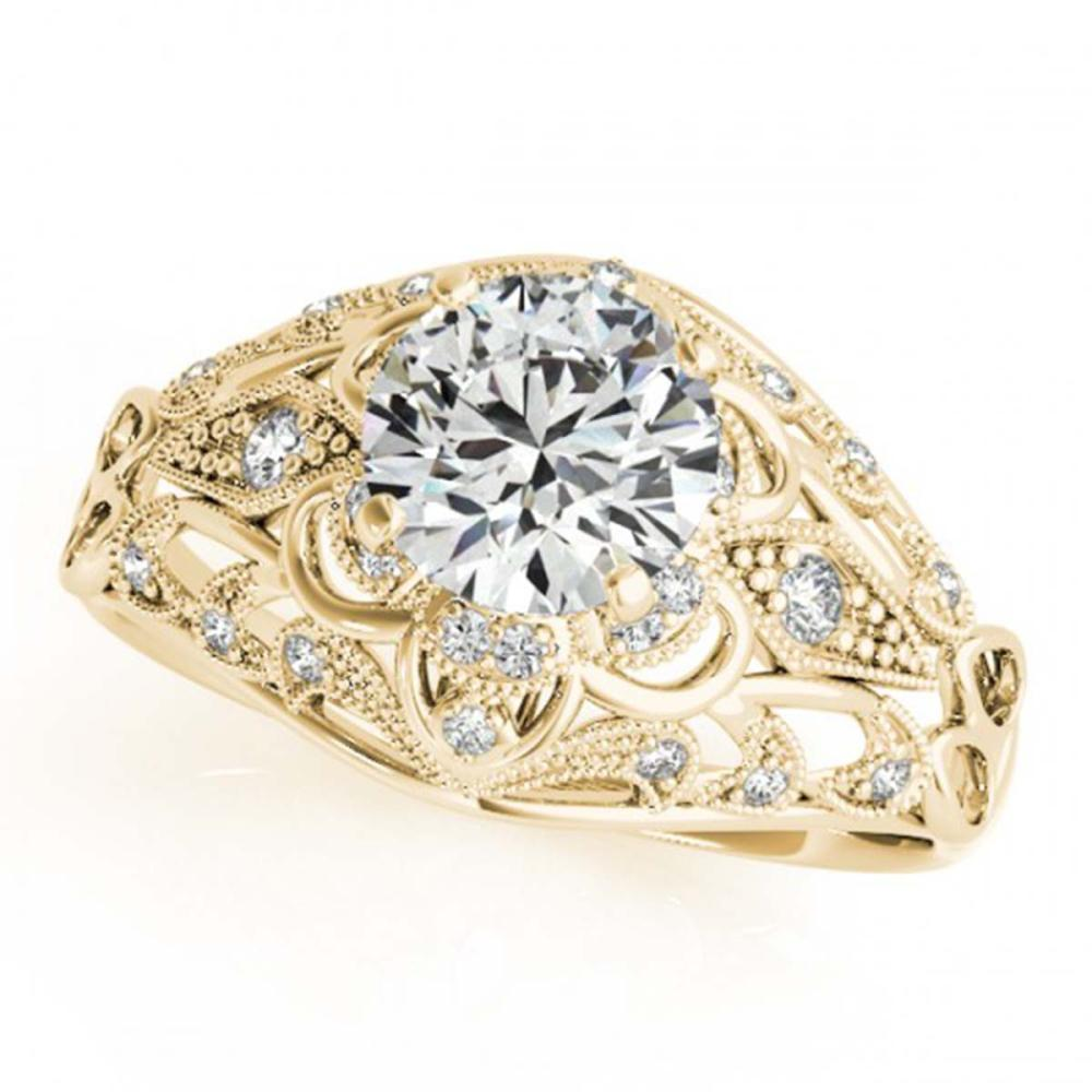Lot 5066: 1.12 ctw VS/SI Diamond Ring 18K Yellow Gold - REF-164V6Y - SKU:27338