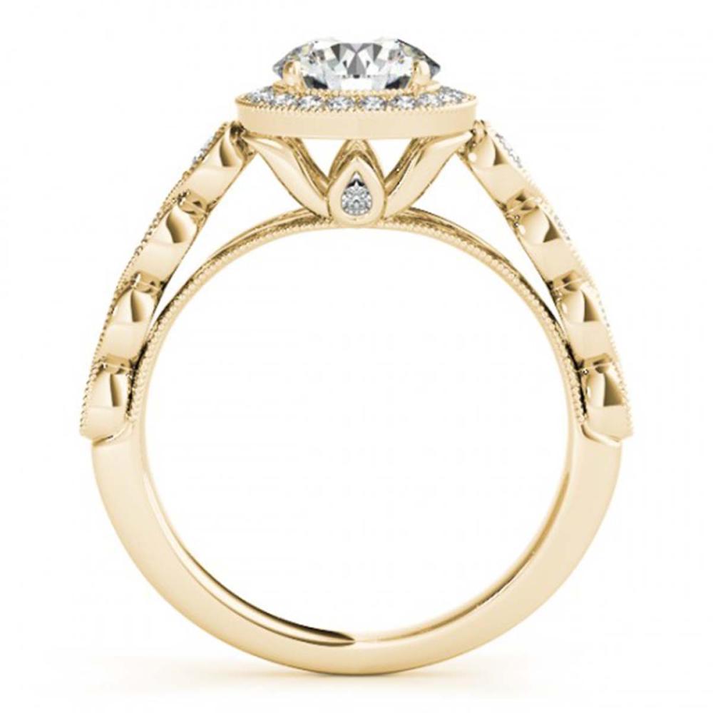 Lot 5078: 1.05 ctw VS/SI Diamond Halo Ring 18K Yellow Gold - REF-104W3H - SKU:26400