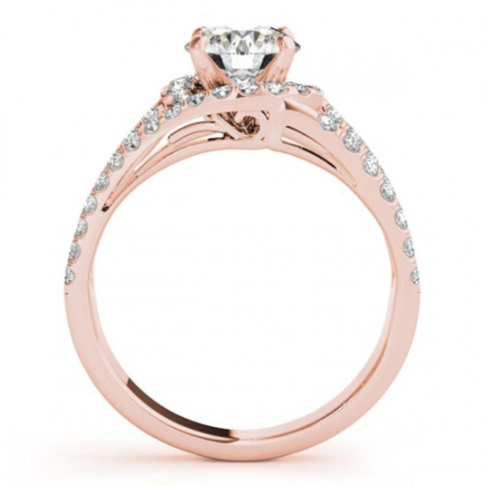 Lot 5081: 1 ctw VS/SI Diamond Wedding Ring 18K Rose Gold - REF-114A2V - SKU:27976