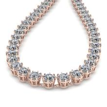 Lot 5080: 34 ctw SI Diamond Necklace 14K Rose Gold - REF-5415X2R - SKU:35576