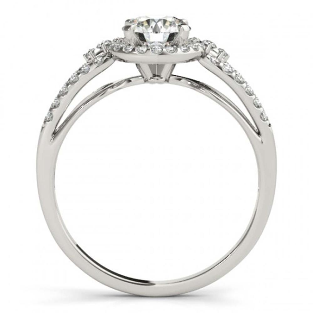 Lot 5088: 1 ctw VS/SI Diamond Halo Ring 18K White Gold - REF-144N5A - SKU:26805