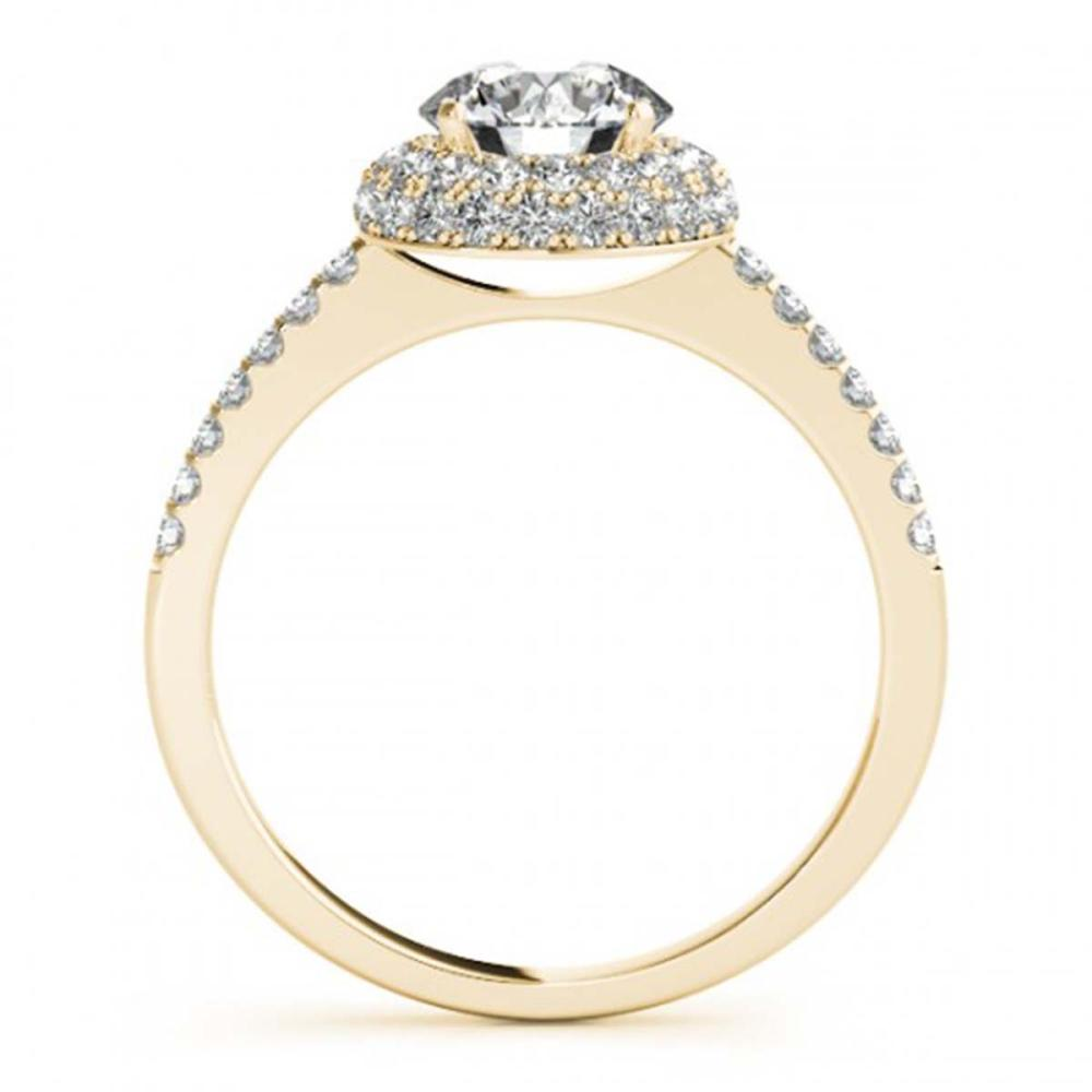 Lot 5099: 1.10 ctw VS/SI Diamond Halo Ring 18K Yellow Gold - REF-146A9V - SKU:26484