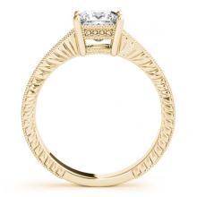 Lot 5108: 1.50 ctw VS/SI Princess Diamond Ring 18K Yellow Gold - REF-423Y5X - SKU:27236