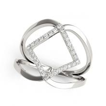 Lot 5124: 0.25 ctw VS/SI Diamond Fashion Ring 18K White Gold - REF-47R4K - SKU:28263