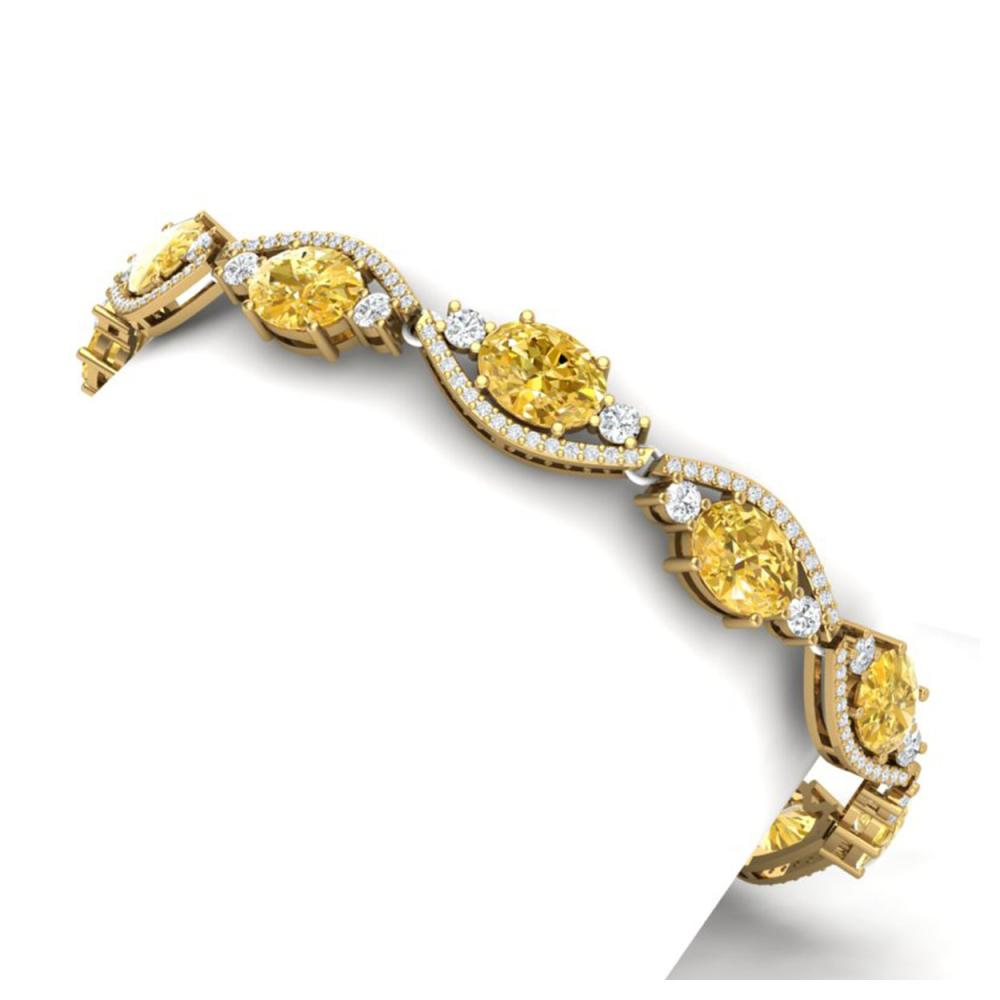 Lot 5144: 18.3 ctw Canary Citrine & VS Diamond Bracelet 18K Yellow Gold - REF-327H3M - SKU:38975