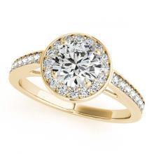 Lot 5145: 1.45 ctw VS/SI Diamond Halo Ring 18K Yellow Gold - REF-284A2V - SKU:26568