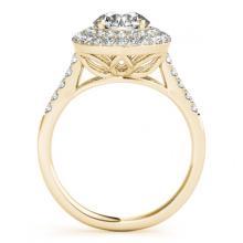 Lot 5149: 1.50 ctw VS/SI Diamond Halo Ring 18K Yellow Gold - REF-172F3N - SKU:26454