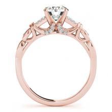 Lot 5155: 1.20 ctw VS/SI Diamond Ring 18K Rose Gold - REF-272Y4X - SKU:27868