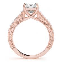 Lot 5166: 0.80 ctw VS/SI Princess Diamond Ring 18K Rose Gold - REF-100K8W - SKU:27640