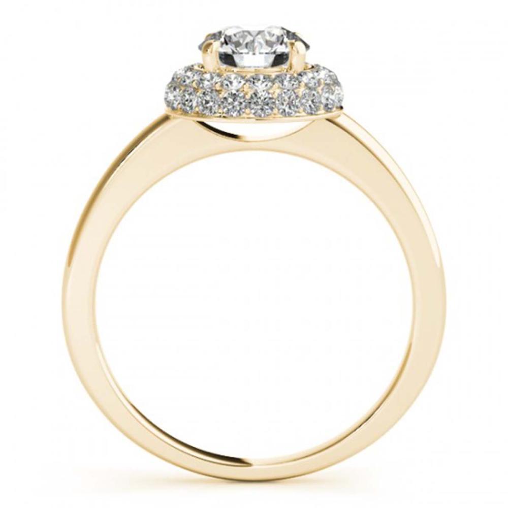 Lot 5170: 1 ctw VS/SI Diamond Halo Ring 18K Yellow Gold - REF-139Y2X - SKU:26478