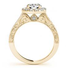 Lot 5177: 1.70 ctw VS/SI Diamond Halo Ring 18K Yellow Gold - REF-307M3F - SKU:26514