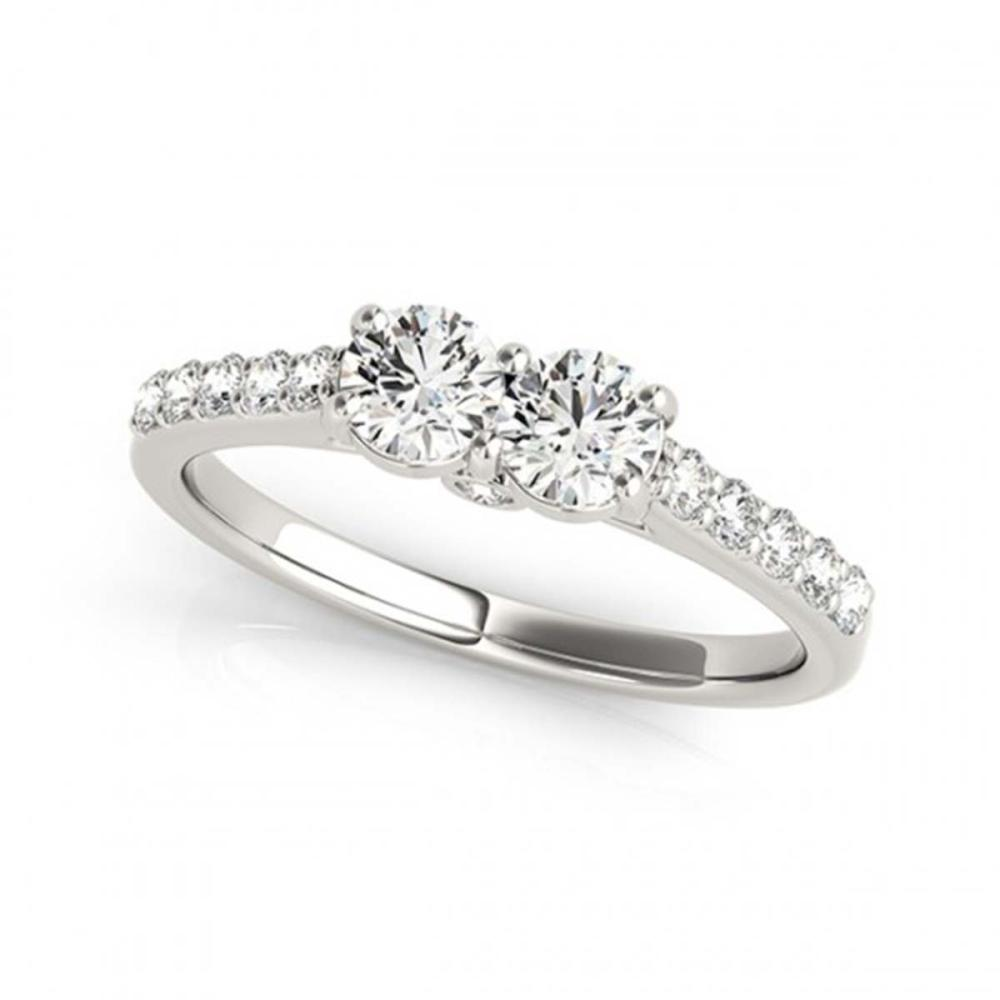 Lot 5178: 1.50 ctw VS/SI Diamond 2 Stone 2 Stone Ring 18K White Gold - REF-161H7M - SKU:28218