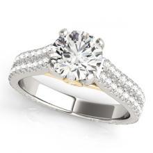 Lot 5187: 2.11 ctw VS/SI Diamond Ring 18K White & Yellow Gold - REF-572A7V - SKU:28106