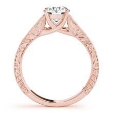 Lot 5185: 0.75 ctw VS/SI Diamond Ring 18K Rose Gold - REF-135K5W - SKU:27808